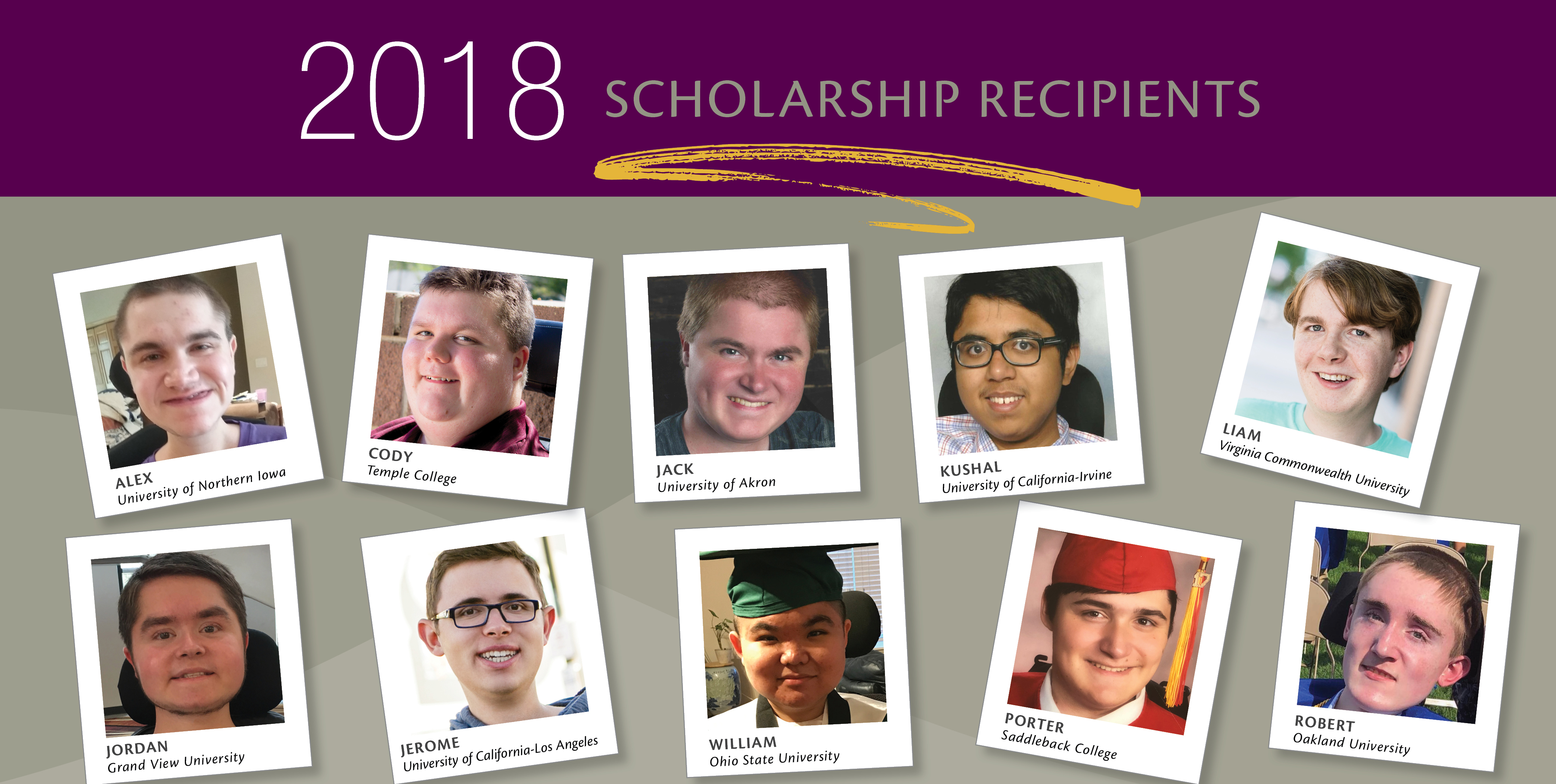 2018 Sarepta Scholarship Recipients